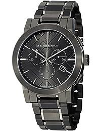 amazon co uk burberry watches burberry women s 42mm black steel bracelet case quartz watch