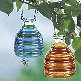 Wespenfalle aus Glas, farbig, 2 Stück