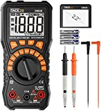 Multimeter, Tacklife DM08 Advanced Digital Auto Range Multi Tester True RMS 2000 Counts Battery tester AC/DC Voltage and Current, Continuity, Resistance, Frequency, Capacitance, Diodes test with NCV