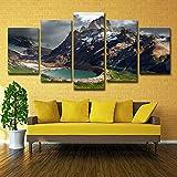 Leinwand Gemälde Rahmen 5 Stück Argentinien Berge See Patagonia Natur Poster Wohnkultur Wohnzimmer...