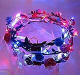 exoh Neuheit blinkende LED Kranz Flower Haarband
