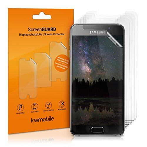 kwmobile 6X Folie für Samsung Galaxy A3 (2016) - klare Displayschutzfolie Displayschutz Crystal Clear kristallklar Displayfolie Schutzfolie