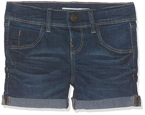 Name it nos nkfsalli dnmtaline 3154 shorts noos pantaloncini, blu dark blue denim, 92 bambina