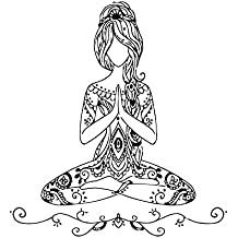 Etiquetas de la pared de la yoga actitud de Lotus de vinilo etiqueta de  Bohemia Decal 1dcdab60a618