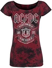 AC/DC Let There Be Rock Girl-Shirt bordeaux