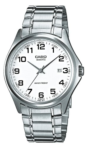 Casio - MTP-1183A-7BEF - Montre Homme - Quartz Analogique - Cadran Blanc - Bracelet Acier Argent