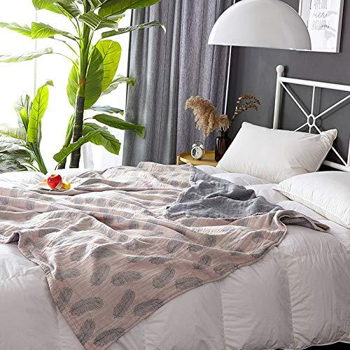 Gaze Handtuch von Baumwolle Handtuch Decke Sommer Klimaanlage Decke Nickerchen Decke Single Double Man Thin Sommer Cool Casual Bohnenpaste Farbe 150x200cm
