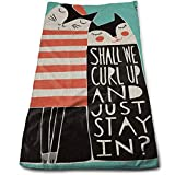 DAICHAI Curl Up Cats Cool Towel Beach Towel Instant Cool Ice Towel Gym Quick Dry Towel Microfibre Towel Cooling Sports Towel for Golf Swimming Yago Football Beach Garden Holiday
