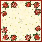 Duni Dunicel Mitteldecken Flores 84x84 cm 20 Stück, Mitteldecken Weihnachten, Weihnachten, Tischdeko Weihnachten