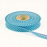 Stoffe Werning Baumwoll Schrägband Tupfen türkis -Preis