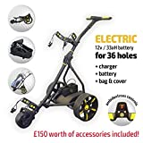 Best Electric Golf Carts - Rider Electric Golf Trolley (Black & Yellow) Review