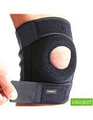 Kniebandage by Leisegrün® – Schützt Meniskus, Bänder und Patella bei Sport und Freizeit - Knieorthese geeignet für Damen und Herren