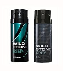 Wild Stone Hydra Energy And Grey Deodorant For Men (150 ML)