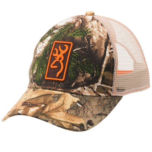 Browning Conway Cap,Mesh,Realtree Xtra/Orange Browning-twill Cap