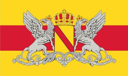 Aufkleber Fahne von Baden mit Wappen Greif Flaggen Sticker Autoaufkleber -