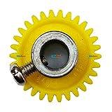Plastic Spur Gear Teeth 30 Dia 21mm Width 6mm Centre Hole Dia 6mm KG459 KitsGuru