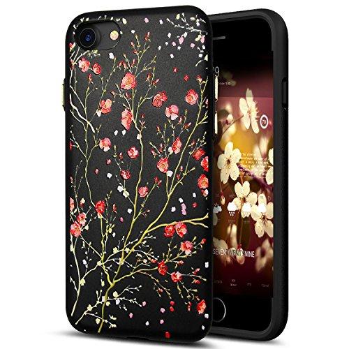 Cover iPhone 8,Cover iPhone 7,Custodia iPhone 8 / iPhone 7 Cover,ikasus® Cover custodia iPhone 8 / iPhone 7 disegno colorato TPU con 3d arte pittura floreale fiore fiori ciliegio girasole modello Cust Fiore #2