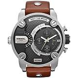 Diesel Men's DZ7264 Brown Leather Quartz Watch with Black Dial