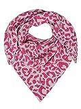 Zwillingsherz Dreieckstuch mit Kaschmir- Hochwertiger Schal im dezentem Leodesign für Damen Jungen und Mädchen - Hals-Tuch und Damenschal - Strick-Waren für Sommer und Winter pink