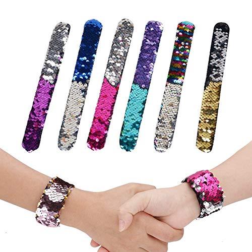 erjungfrau Armbänder, Pailletten Slap Armbänder Reversible Glitter Armband Magic Party Supplies, Spielzeug, Werbegeschenk SpielzeugFavours für Kinder, Erwachsene ()