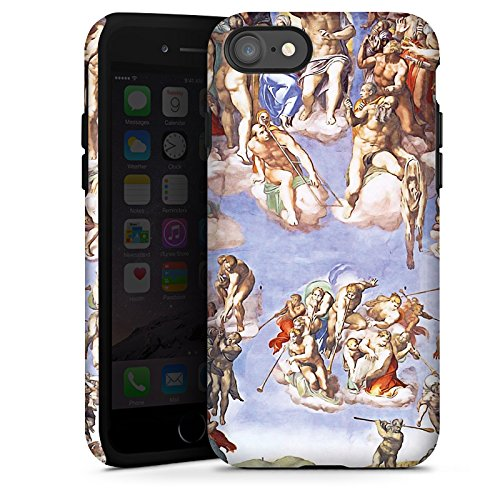 Apple iPhone X Silikon Hülle Case Schutzhülle Michelangelo Buonarroti Das jüngste Gericht Gemälde Tough Case glänzend