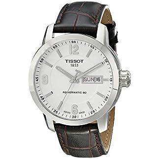 Tissot PRC 200 – Reloj (Reloj de Pulsera, Masculino, Acero Inoxidable, Acero Inoxidable, Cuero, Marrón)