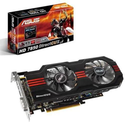 Price comparison product image ASUS Radeon HD 7850 DirectCU II Graphics Card (2GB GDDR5,  PCI Express 3.0,  870MHz / 4840MHz,  HDMI,  DVI-I