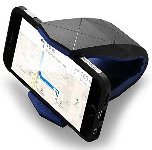 Shopizone® Universal Car Mount Phone Holder Dock Cradle Stand for Mobile Smart Phone (Black)