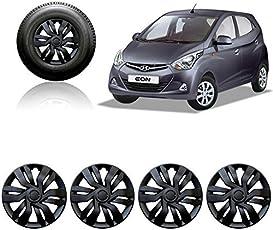 Autorepute Car Wheel Cover Caps 12 Inches Press Type Fitting For - Hyundai Eon Era (Black)
