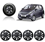 #8: Autorepute Car Wheel Cover Caps 12 Inches Press Type Fitting For - Hyundai Eon Era (Black)