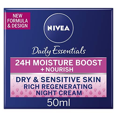 Nivea Daily Essentials Rich Regenerating Night Cream 50 ml - Pack of 3