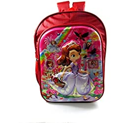 Disney princess Sofia the first 5D embossed waterproof school bag pink/multicolor eh417