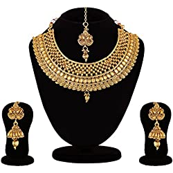 Apara Bridal LCT Necklace Maang Tikka Choker For Women