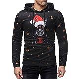 Celucke Herren Kapuzenpullover Langarm Hoodies Lustige Weihnachtspullover Casual Pullover Winter Sweatshirt