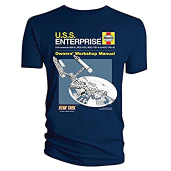 Official T Shirt STAR TREK Haynes ENTERPRISE Blue L