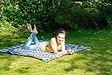 AMAZONAS Ultra-Light Picknickdecke Travel Blanket 350 g 150 x 120 cm blaukariert