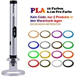 Tipeye 3D Stifte für Kinder und Erwachsene mit OLED Display und 3D Stift Filament PLA 1.75 mm Frei, 3D Druckstift Set für Kritzelei, Basteln, Zeichnung, Kunstwerk