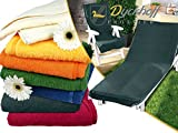 Schonbezug für Gartenstuhl & Gartenliege aus dem Hause Dyckhoff - erhältlich in 7 sommerlichen Farben - mit Kapuze für besseren Halt, Gartenliege (70 x 200 cm), grau