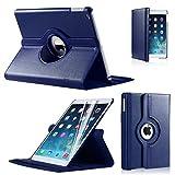 Best Blickwinkeln iPad AIR2(2014–15)/iPad 6360drehbar Magnet PU Leder Schutzhülle (Deep Blue) Smart Cover Ständer für iPad AIR2(2014–15)/iPad 6