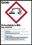 LEMAX® GHS-Etikett Schwefelsäure 96%,gem.GefStoffV/GHS/CLP,Folie,52x74mm,10/Bogen