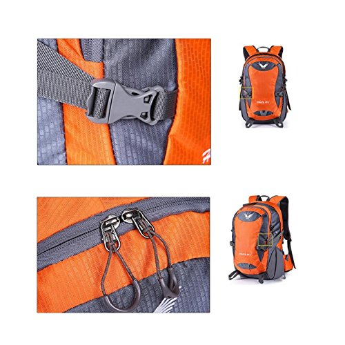 LF&F 38L KapazitäT Leichter Outdoor Reise Rucksack Wasserdichter Sport Bergsteiger Kletterpaket Freizeit College Student Tasche Daypacks TäGlicher Gebrauch C