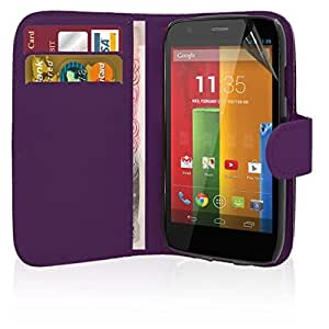 Motorola Moto E 2nd Gen - Premium Quality Leather Book Wallet Style Case