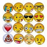 Emoji Magnete Set,HOMEIDOL,16 Teilig Lustige Kühlschrankmagnete Set für Präsentationen, Schulungen, Projektarbeit, Unterricht, Wohnung, Klassenzimmer und Büro