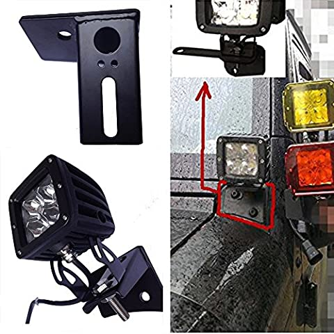 Sxma le tableau de bord Supports de charnière de pare-brise de montage auxiliaire pour Jeep JK 07–16Off-road LED Feux de Brouillard et de travail (2pcs)