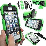 Coque Protection Robuste Antichoc Robuste pour téléphones et tablettes - Vert, Apple iPhone 5S / 5
