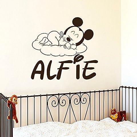 Jolie tête de Mickey à motifs Art mural Home Nursery