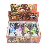 Wenosda Dino Dinosaur Dragon Eggs Hatching Growing Toy Large Size Pack of 12pcs (mix colors,12pcs)