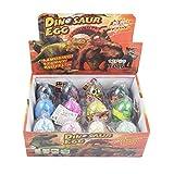 Yeelan Dino Dinosaurier-Dracheneier Schlüpfen Large Size Packung mit 12 Stück wachsenden Spielzeug, mischen Farben