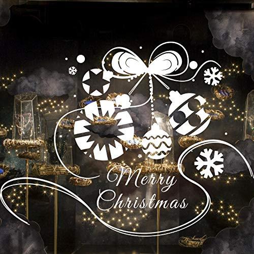 (Geschnitzte kreative Schneeflocke hängende Kugel PVC-Lampe Wandaufkleber Frohe Weihnachten)