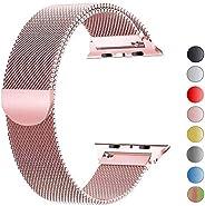 VIKATech Compatible Cinturino per Apple Watch Cinturino 44mm 42mm 40mm 38mm, Cinturino Orologio Bracciale in Acciaio Inossida